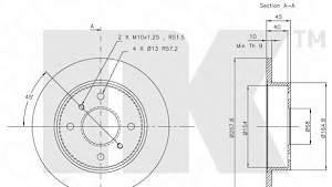 Тормозной диск nissan:primera,sentra;Nk202229 - Фото #3