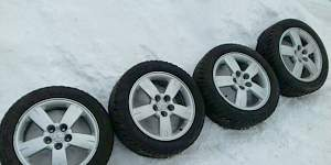 Зимние колеса на литых дисках-4шт. Ориг.диски Митс - Фото #1