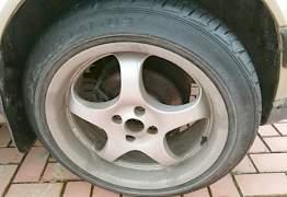 Borbet T 4x100 + Dunlop 205/50/17 - Фото #1