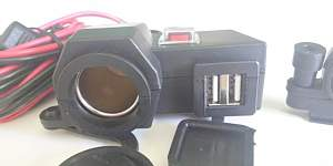 Мото прикуриватель + USB (Зарядка) - Фото #2