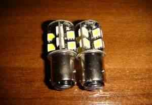 Лампа стоп сигнал/габарит 1157 / BAZ15D 3.8 Вт - Фото #1