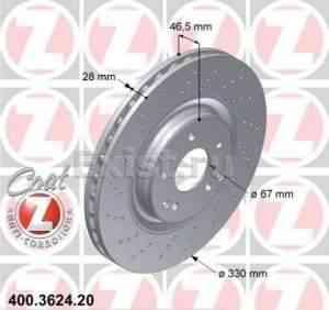 Тормозные диски Otto Zimmerman - Фото #1
