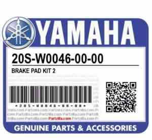 Колодки торм. Yamaha, для FZ1 FZ6R 20S-W0046-00-00 - Фото #1