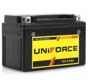 Аккумуляторы мото uniforce 12V9.5, YT12A-BS - Фото #1