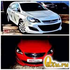 Обвес на Opel Astra J. Рестайл. Подходит Седанам - Фото #1