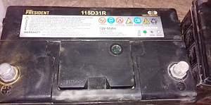 Аккумулятор super president 115D31R12V 95AH - Фото #1
