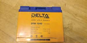 Agm аккумулятор Delta dtm-1240 - Фото #1