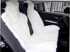 Накидки меховые из овчины на сиденье машины - Фото #2