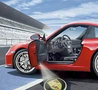 Подсветка дверей автомобиля Порше (Porsche) - Фото #1