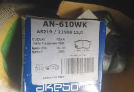 Тормозные перед. колодки на Suzuki ignis akebono A - Фото #1