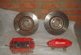 Комплект передних тормозов brembo на mini cooper - Фото #1
