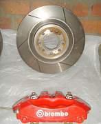 Комплект передних тормозов brembo на mini cooper - Фото #3